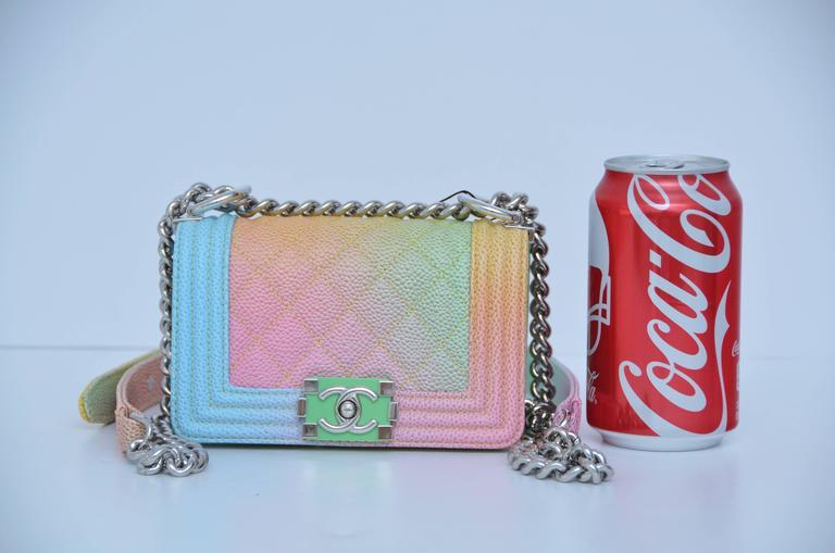 Super Rare Chanel MICRO Rainbow Cuba  Boy Handbag '17 Crossbody NEW 4