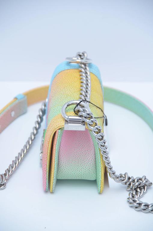 Super Rare Chanel MICRO Rainbow Cuba  Boy Handbag '17 Crossbody NEW 5