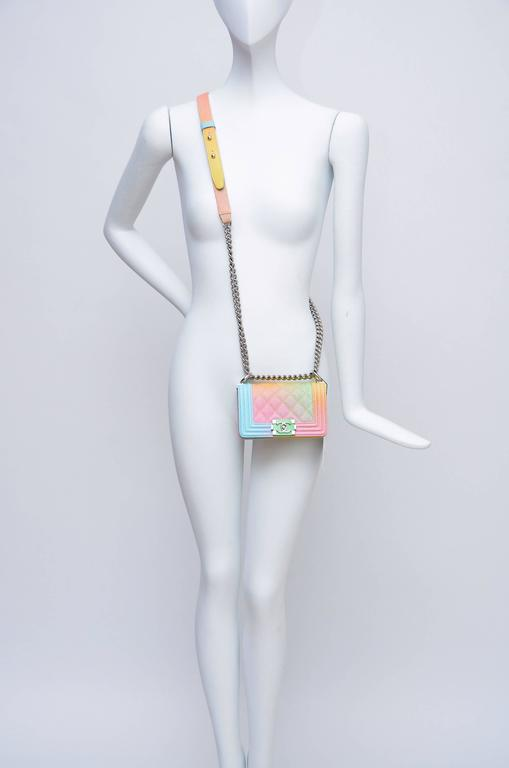 Super Rare Chanel MICRO Rainbow Cuba  Boy Handbag '17 Crossbody NEW 6