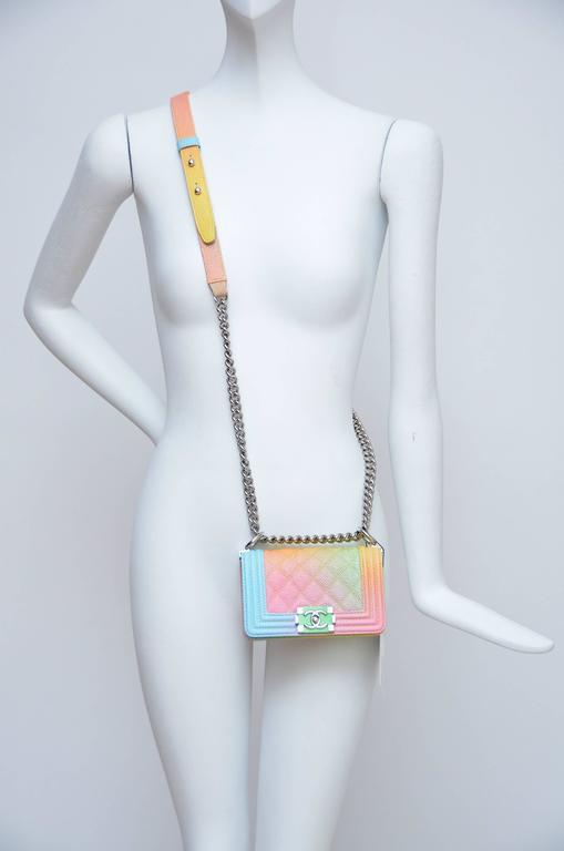 Super Rare Chanel MICRO Rainbow Cuba  Boy Handbag '17 Crossbody NEW For Sale 3