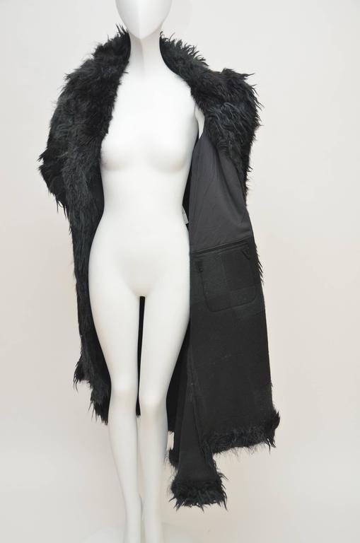 Comme Des Garcons  Faux  Fur Coat AD '02  Metropolitan  Museum NY  Mint For Sale 2