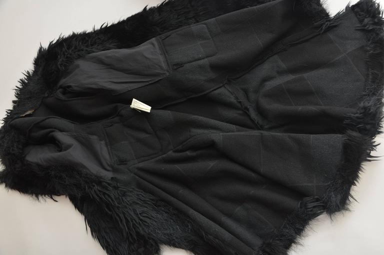 Comme Des Garcons  Faux  Fur Coat AD '02  Metropolitan  Museum NY  Mint For Sale 4