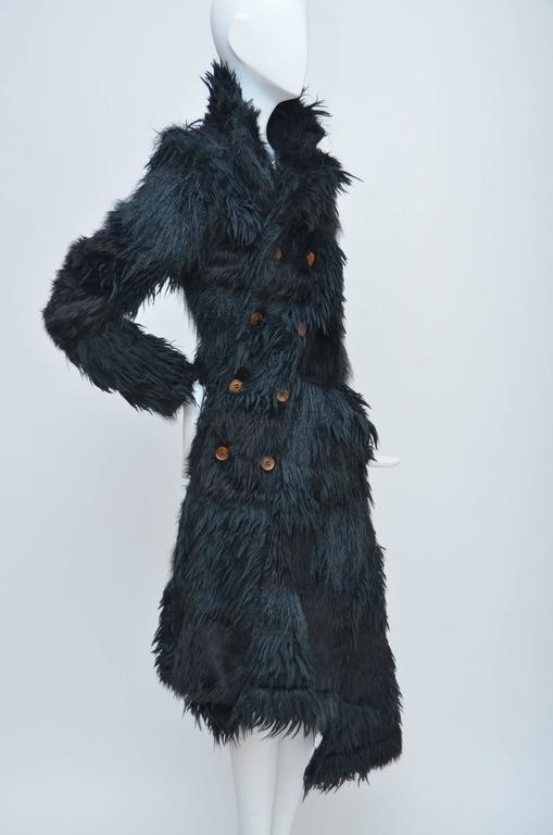 Black Comme Des Garcons  Faux  Fur Coat AD '02  Metropolitan  Museum NY  Mint For Sale