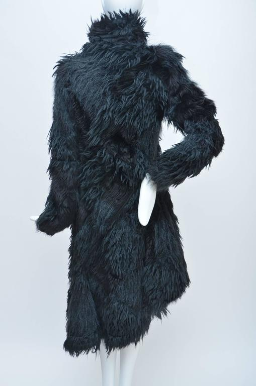 Comme Des Garcons  Faux  Fur Coat AD '02  Metropolitan  Museum NY  Mint In New Never_worn Condition For Sale In Hollywood, FL