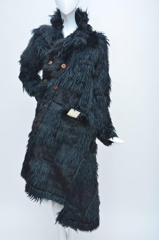 Comme Des Garcons  Faux  Fur Coat AD '02  Metropolitan  Museum NY  Mint For Sale 1