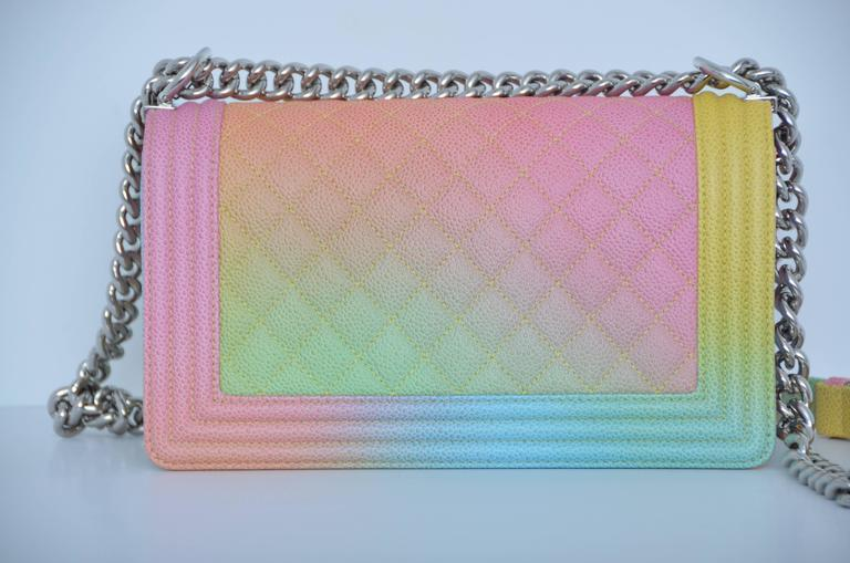chanel rainbow cuba boy handbag medium 17 crossbody new