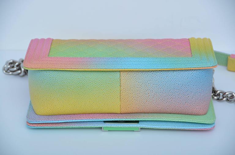 f54a5a0ed9c9 Chanel Rainbow Cuba Boy Handbag Medium  17 Crossbody NEW Sold Out In New  Condition For