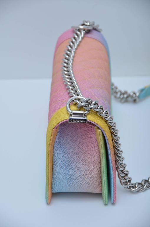 6b7438af4295 Women s or Men s Chanel Rainbow Cuba Boy Handbag Medium  17 Crossbody NEW  Sold Out For