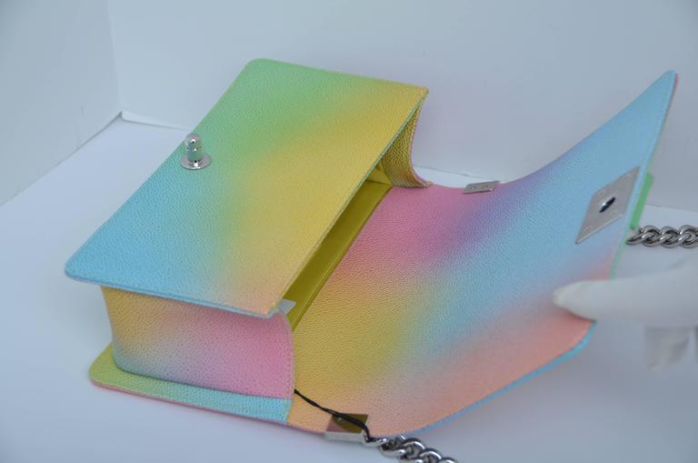 6c96f9fad3a4 Chanel Rainbow Cuba Boy Handbag Medium  17 Crossbody NEW Sold Out For Sale 1