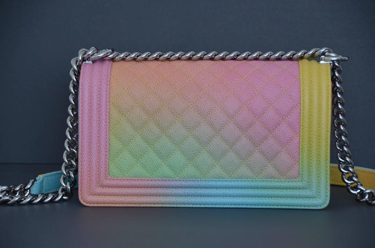 d16eb4110256 Chanel Rainbow Cuba Boy Handbag Medium  17 Crossbody NEW Sold Out For Sale 4