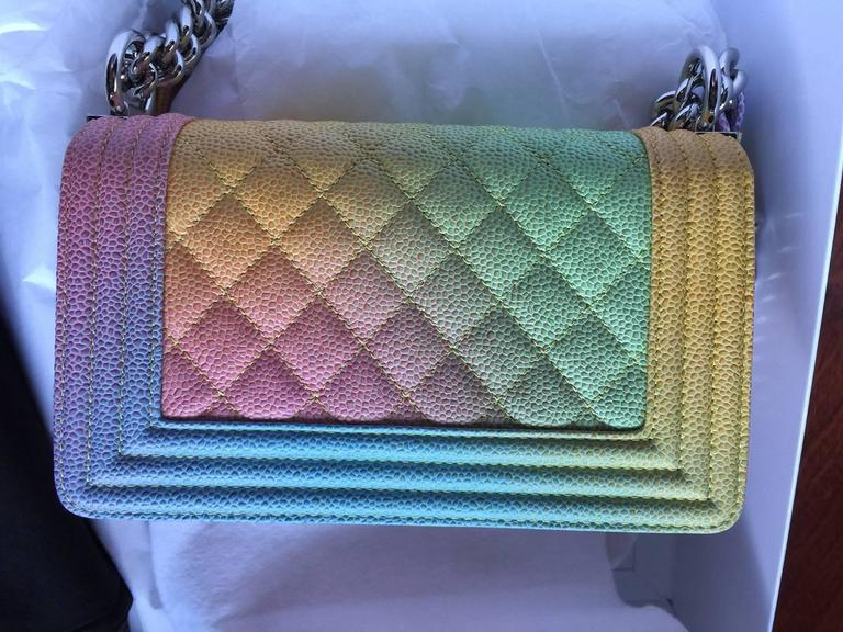 c769b3ca38b5e1 Chanel Rainbow Chanel Boy Handbag Small '17 Crossbody NEW Sold Out In New  Condition For