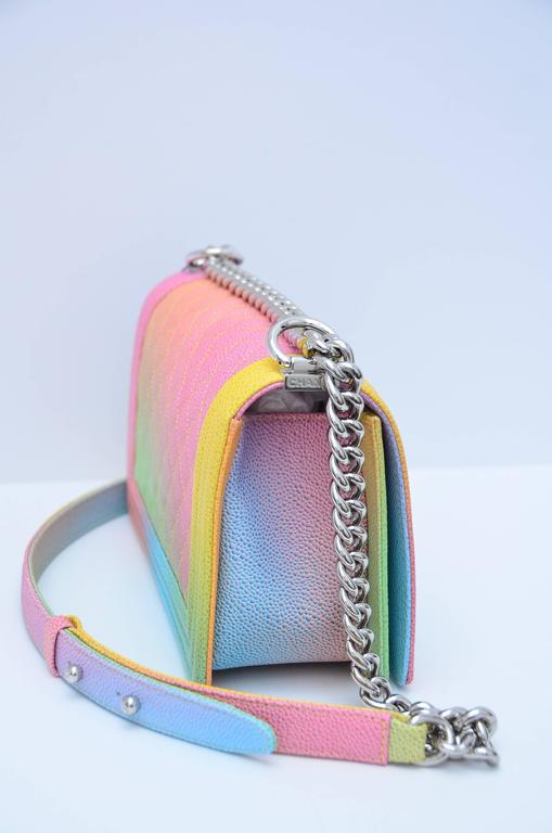 Chanel Rainbow Chanel Boy Handbag Medium '17 Crossbody NEW Sold Out 5