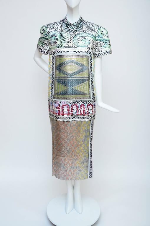 Mary Katrantzou Jigsaw Metal Mesh Jacquard Dress, Runway 2013 Retailed $8,000 In New Condition For Sale In Hollywood, FL