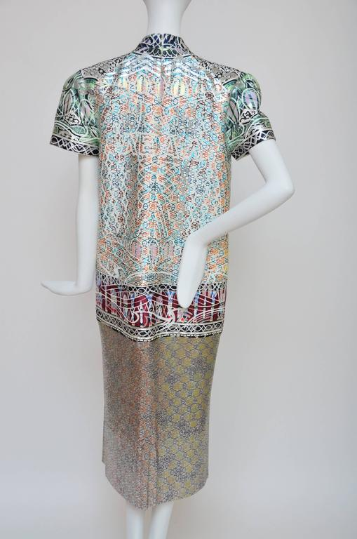 Women's or Men's Mary Katrantzou Jigsaw Metal Mesh Jacquard Dress, Runway 2013 Retailed $8,000 For Sale