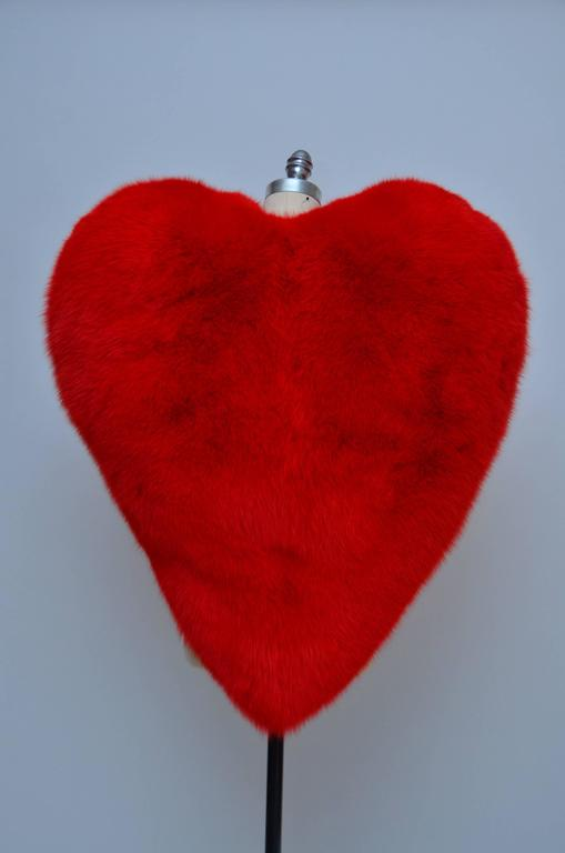 Famous Saint Laurent Heart fox cape. Seen on the best dressed in fashion  and entertainment business as Anna Dello Russo and Rihanna...... Brand new with tags attached. Size 38 FR. Made in Italy. Dyed fox fur from Finland. Very easy to wear