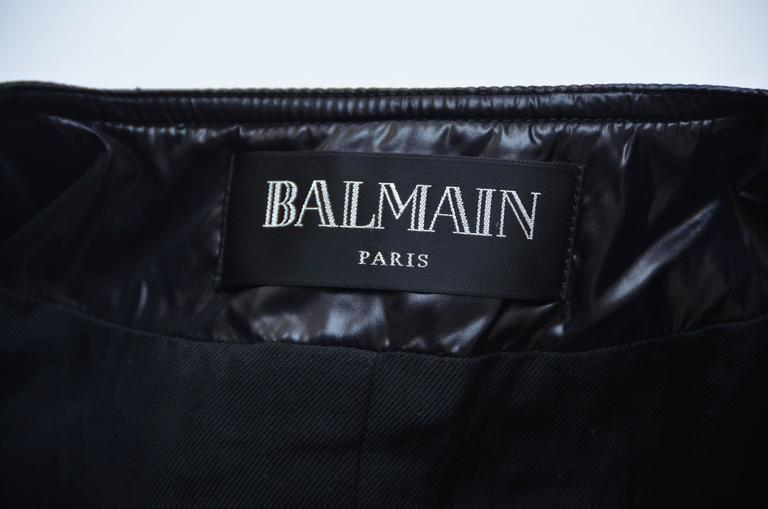 BALMAIN Black Quilted Techno Jacket Similar Seen On Beyonce And Nicki Minaj 40 For Sale 3