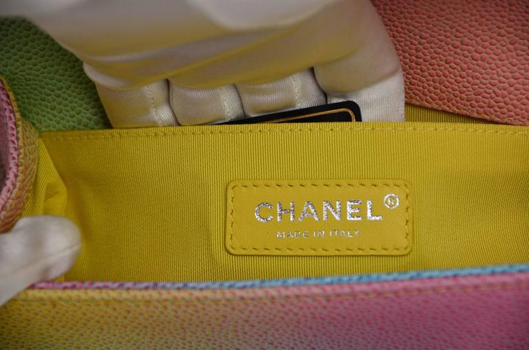 Chanel Rainbow Chanel Boy Handbag Small '17 Crossbody NEW Sold Out For Sale 1