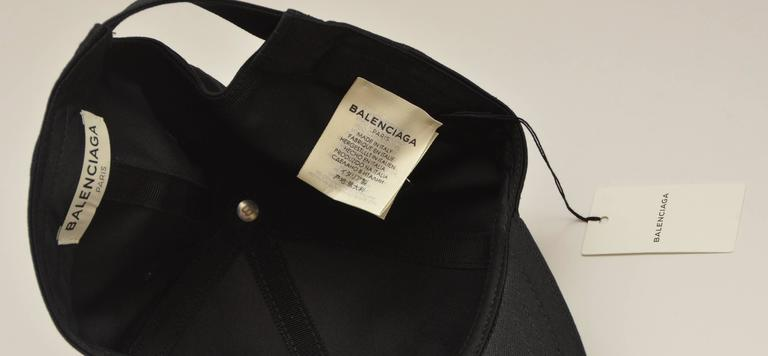 Balenciaga Black Logo Embroidered Hat New At 1stdibs