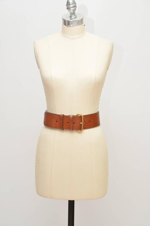Alexander McQueen Leather Belt   In New Condition For Sale In Hollywood, FL