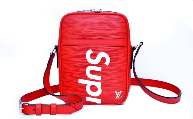 Supreme Louis Vuitton Red Shoulder Bag Danube RARE Pop-Up ...
