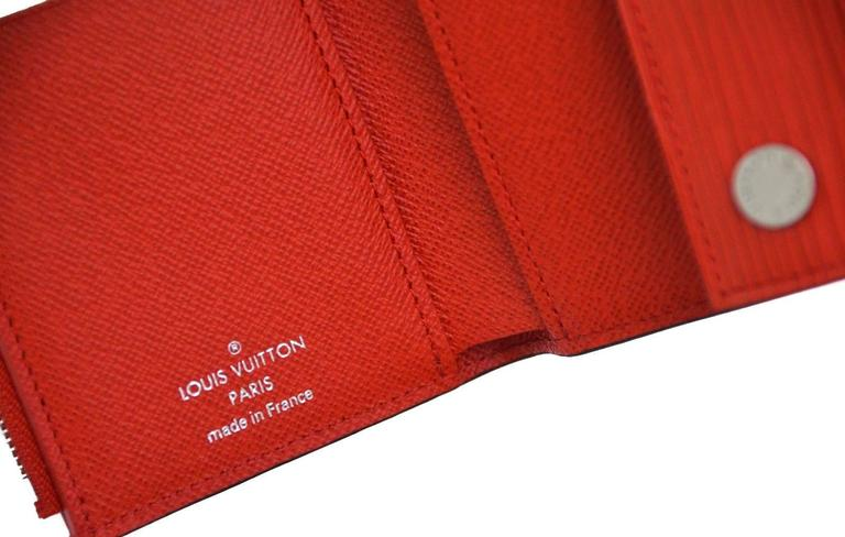 7048aa9946f5 Louis Vuitton X Supreme Red Chain Wallet Epi Leather New At 1stdibs