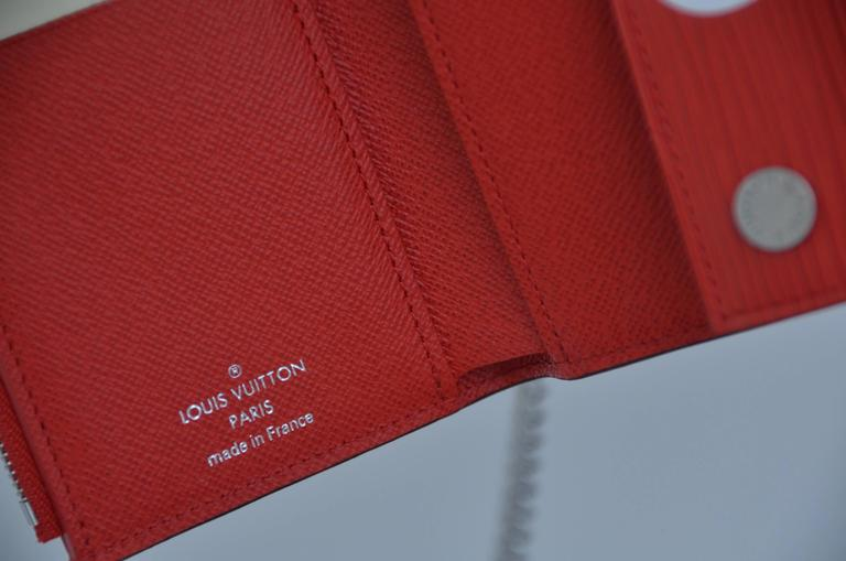 Louis Vuitton X Supreme Red Chain Wallet Epi Leather NEW For Sale 1