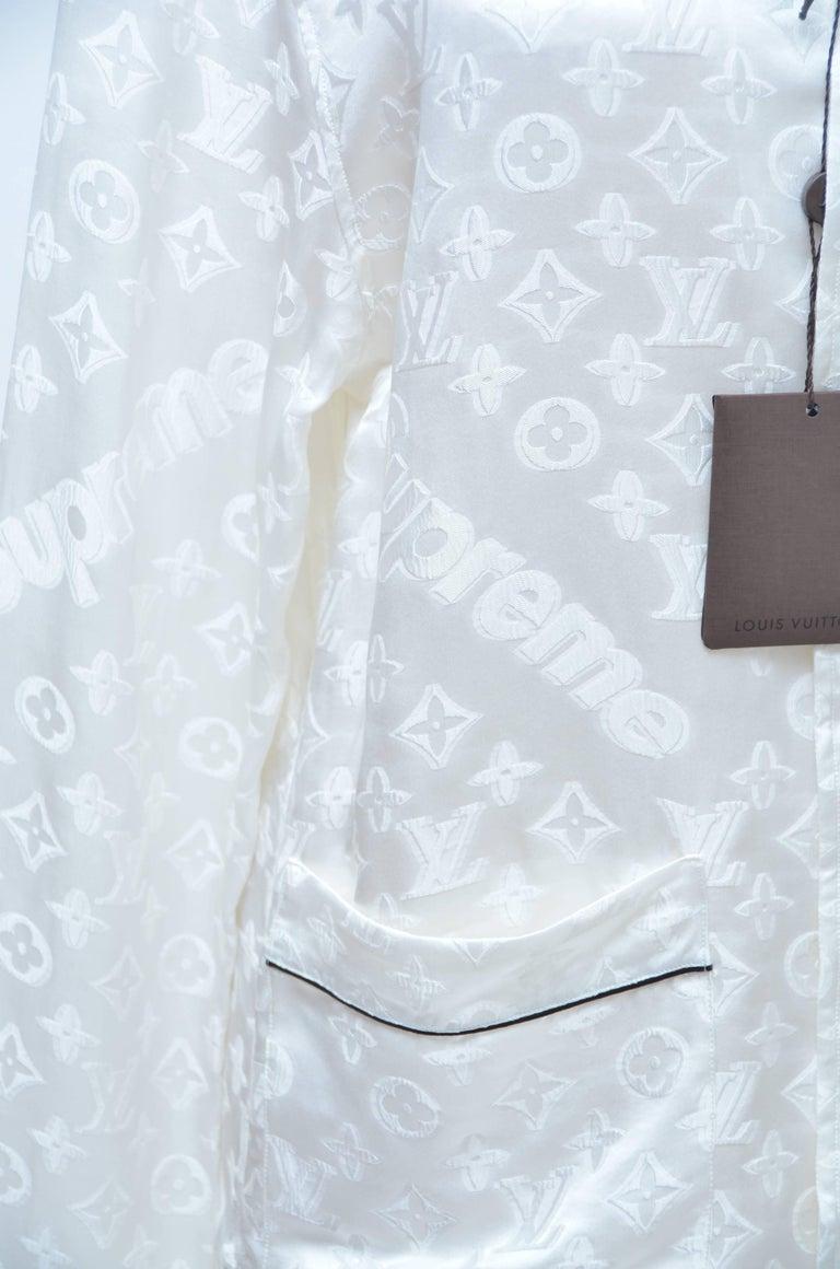 Louis Vuitton X Supreme Off White Pajama Shirt Seen On