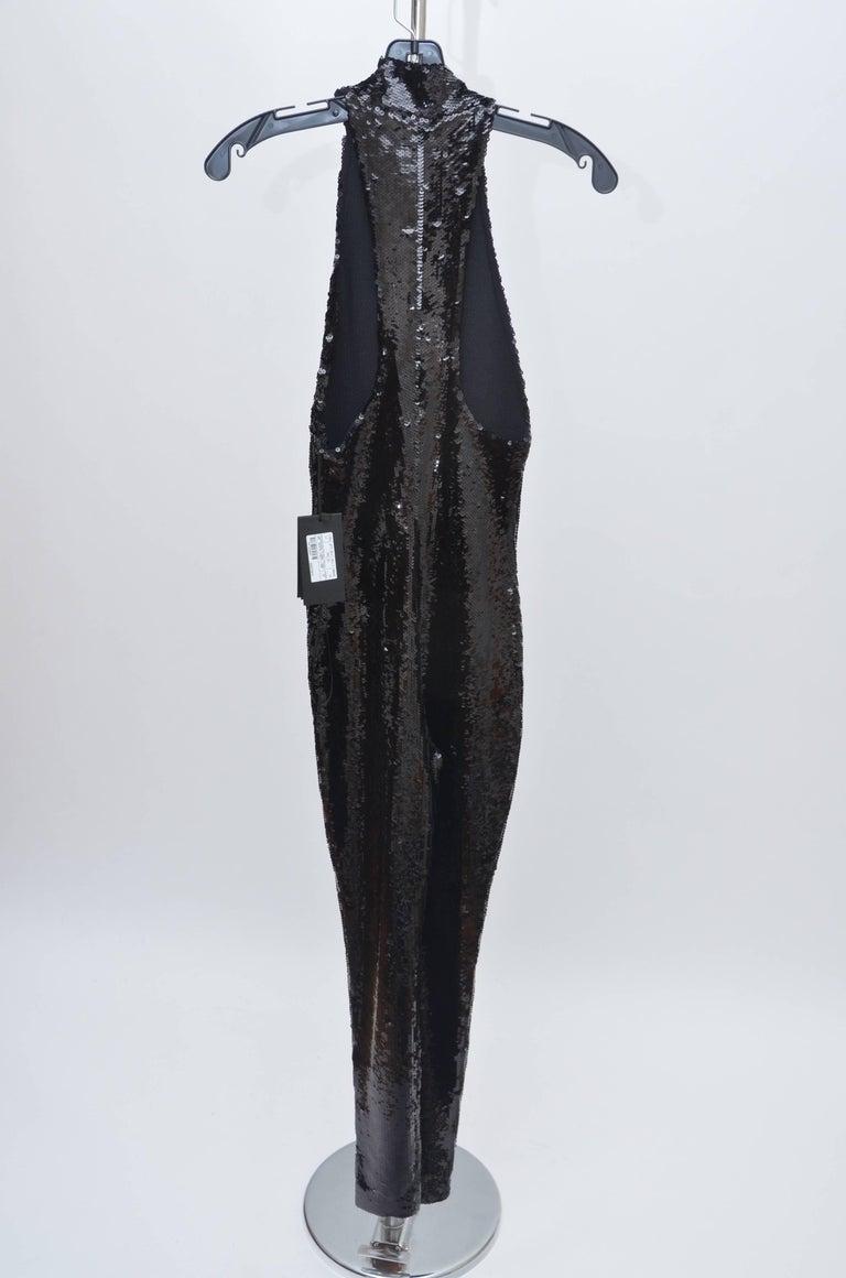 Black SAINT LAURENT Sequence  Jersey  Jumpsuit Seen On Kylie Jenner Tylor Swift  NEW  For Sale