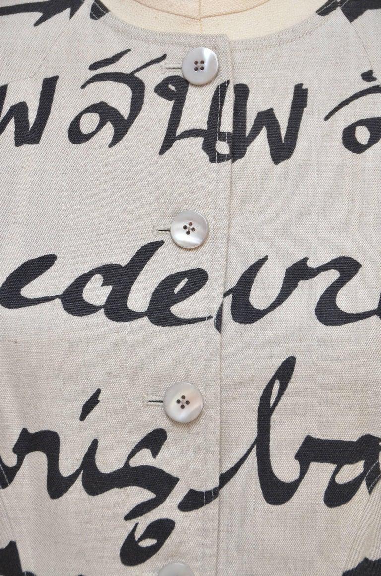 Chado Ralph Rucci Linen Coat, Mint  8 3
