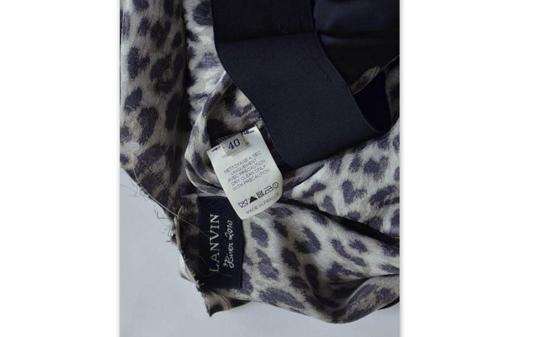 Lanvin Hiver Pre-Fall 2010 Long Sleeved Leopard Print Cocktail Dress New 40 For Sale 1