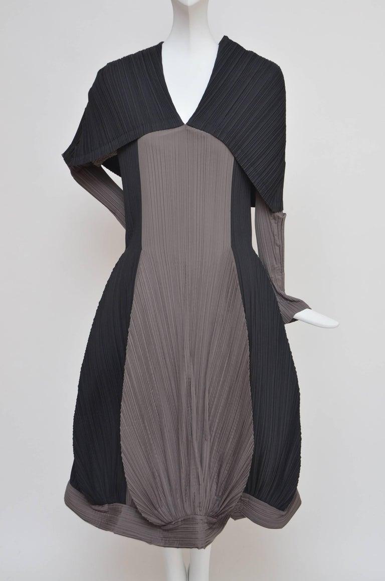 Black Issey Miyake Bi-Color Vintage Dress   For Sale