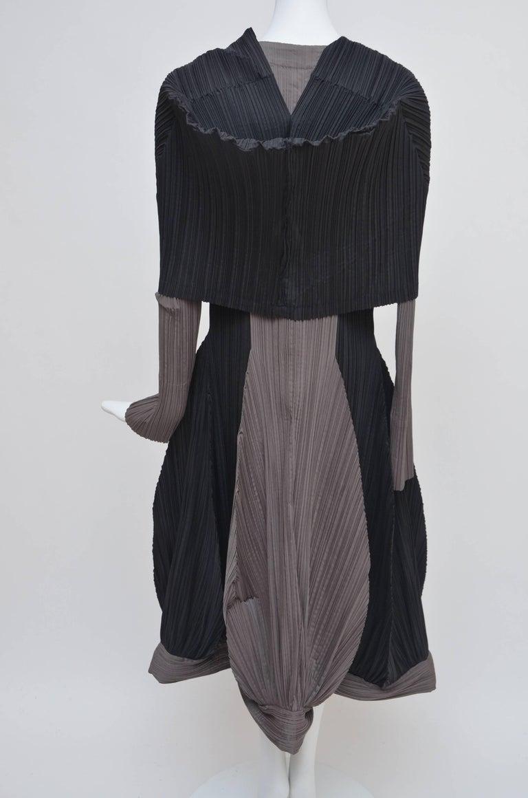 Women's Issey Miyake Bi-Color Vintage Dress   For Sale
