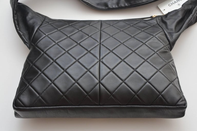 "Chanel ""Girl""  Black Jacket Black Lambskin Bag, 2015    For Sale 3"