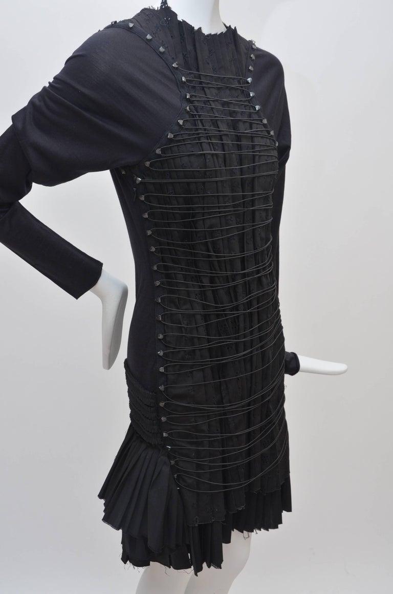 "Rare BALENCIAGA X  Nicholas Ghesquiere ""Le Dix"" '01 Dress Broderie Anglaise   6"