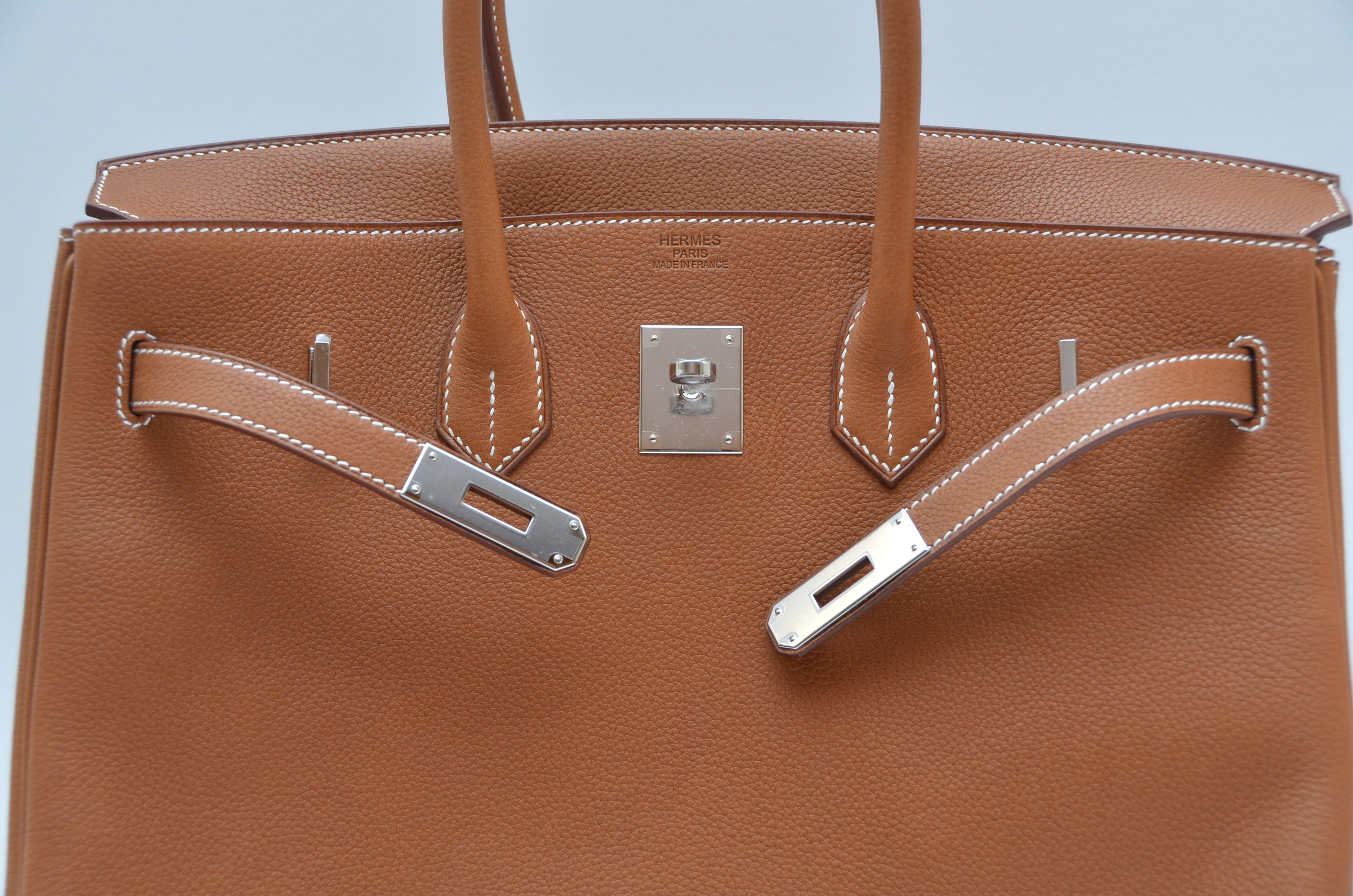 9103603f023 Hermes Birkin 35 CM Bag Very Rare Veau Barenia Faubourg Palladium Hardware  NEW For Sale at 1stdibs