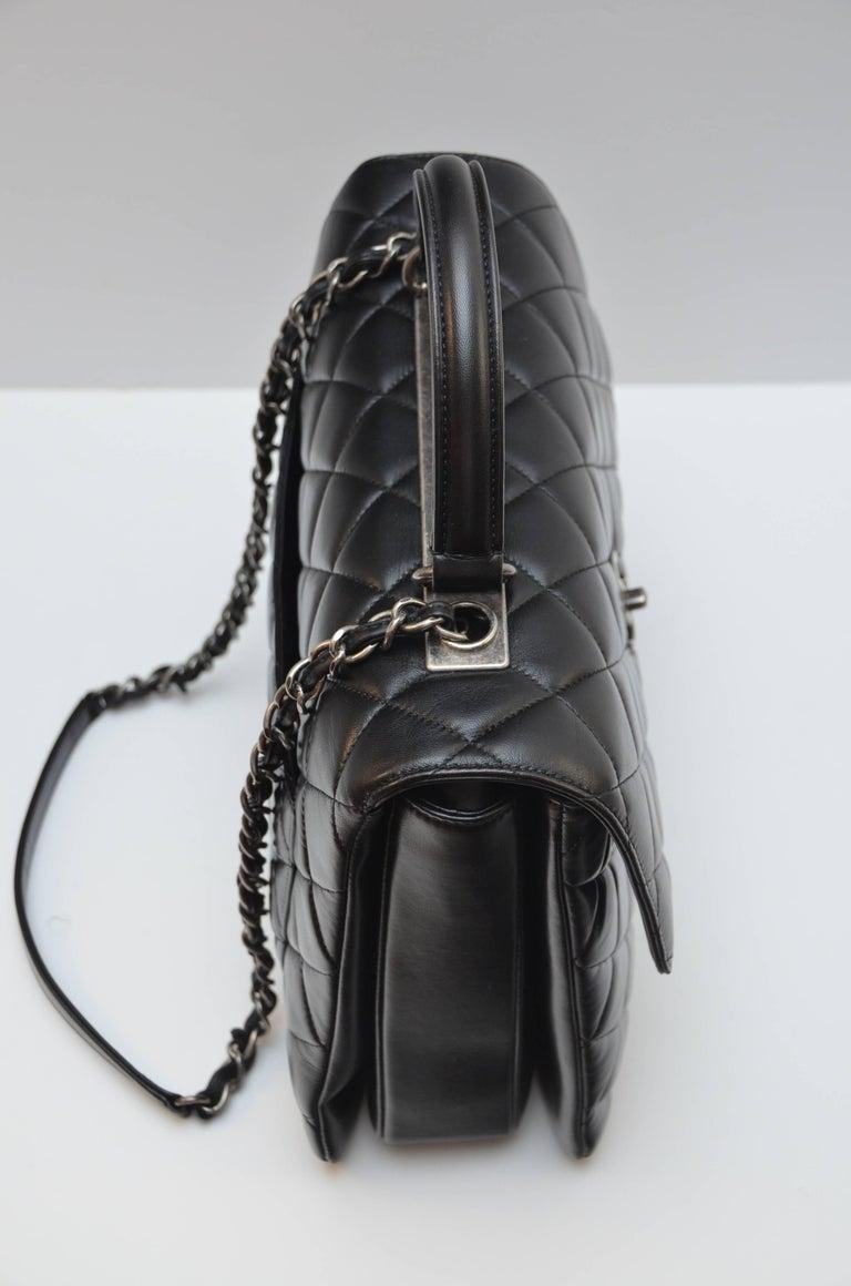 df08b606ae83 Women's Chanel Black Large Trendy CC Classic Handle Shoulder Flap Tote Bag  For Sale