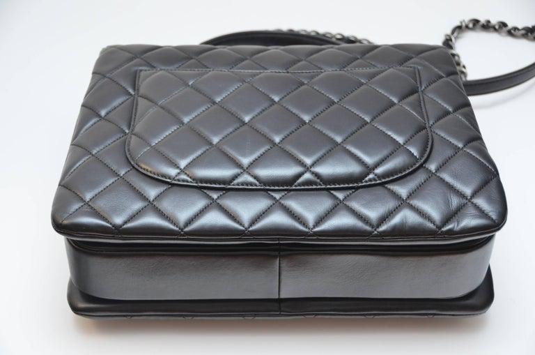 e2266efe06fd Chanel Black Large Trendy CC Classic Handle Shoulder Flap Tote Bag For Sale  2