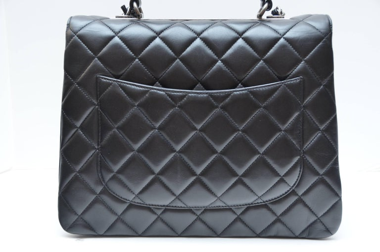 aa3827b42f90 Chanel Black Large Trendy CC Classic Handle Shoulder Flap Tote Bag For Sale  3