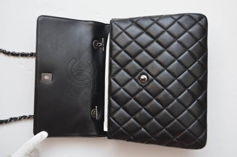 70525a8fb153 Chanel Black Large Trendy CC Classic Handle Shoulder Flap Tote Bag For Sale  6