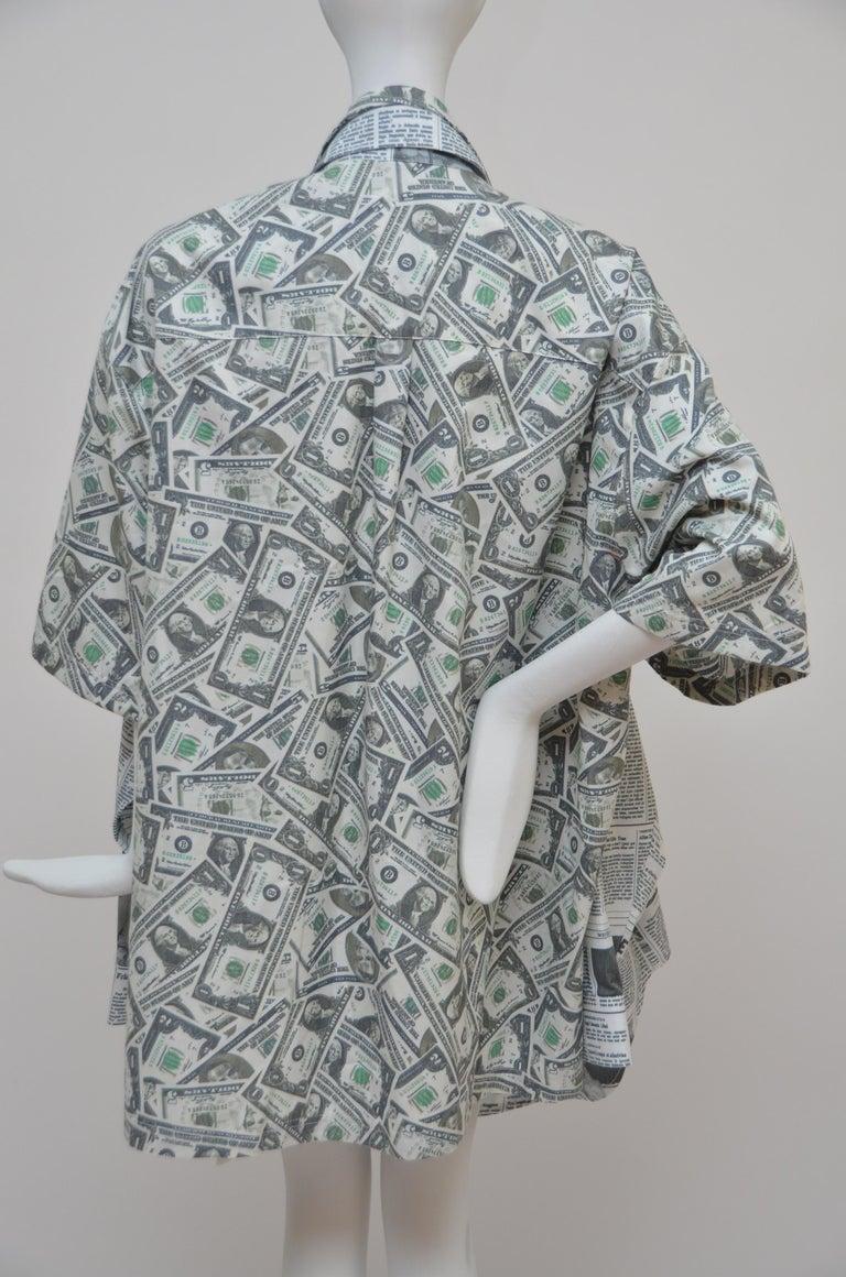 Balenciaga Money $$ Print Shirt  Oversized  Size 40  NEW For Sale 1