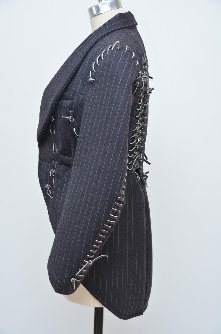 Women's Rare COMME DES GARCONS Black Runway  Spring 2005  Jacket     M Size   For Sale