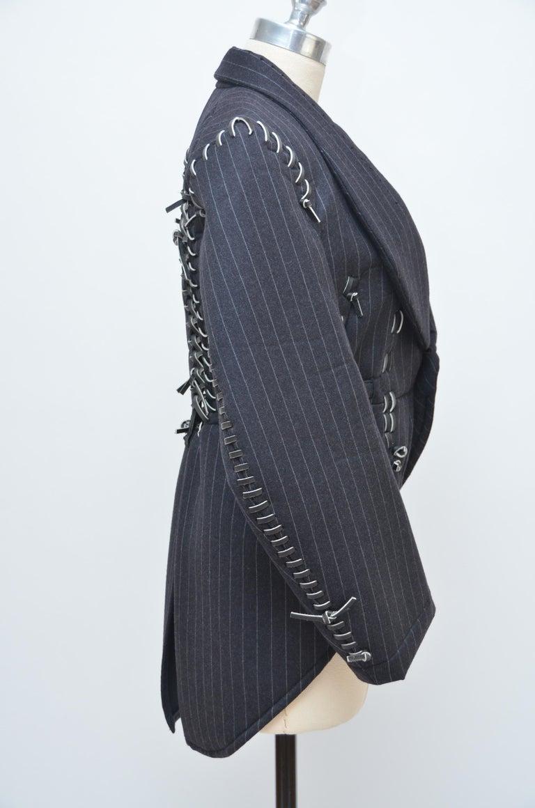 Rare COMME DES GARCONS Black Runway  Spring 2005  Jacket     M Size   For Sale 1