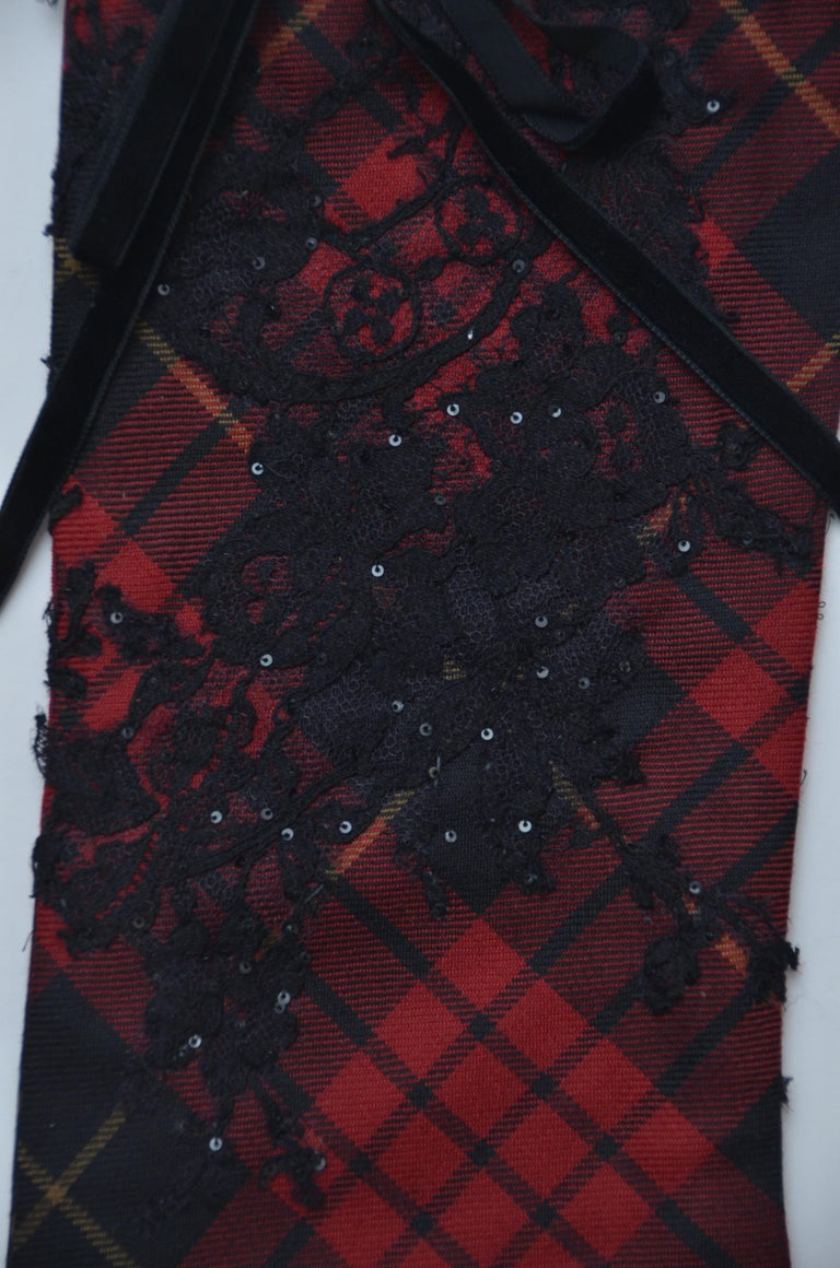 ONE OF A KIND  Alexander McQueen  Designer Tartan Christmas Stocking 2006  In Excellent Condition For Sale In New York, NY
