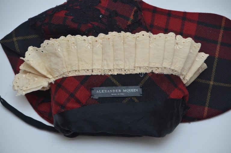Women's or Men's ONE OF A KIND  Alexander McQueen  Designer Tartan Christmas Stocking 2006  For Sale