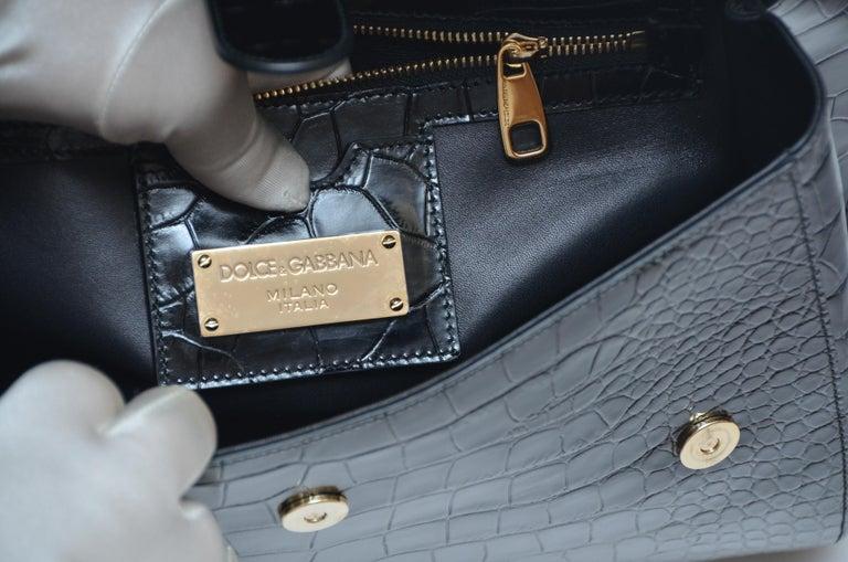 2bf2fb5eff Dolce and Gabbana Crocodile Handbag Large Miss Sicily MINT Retailed ...