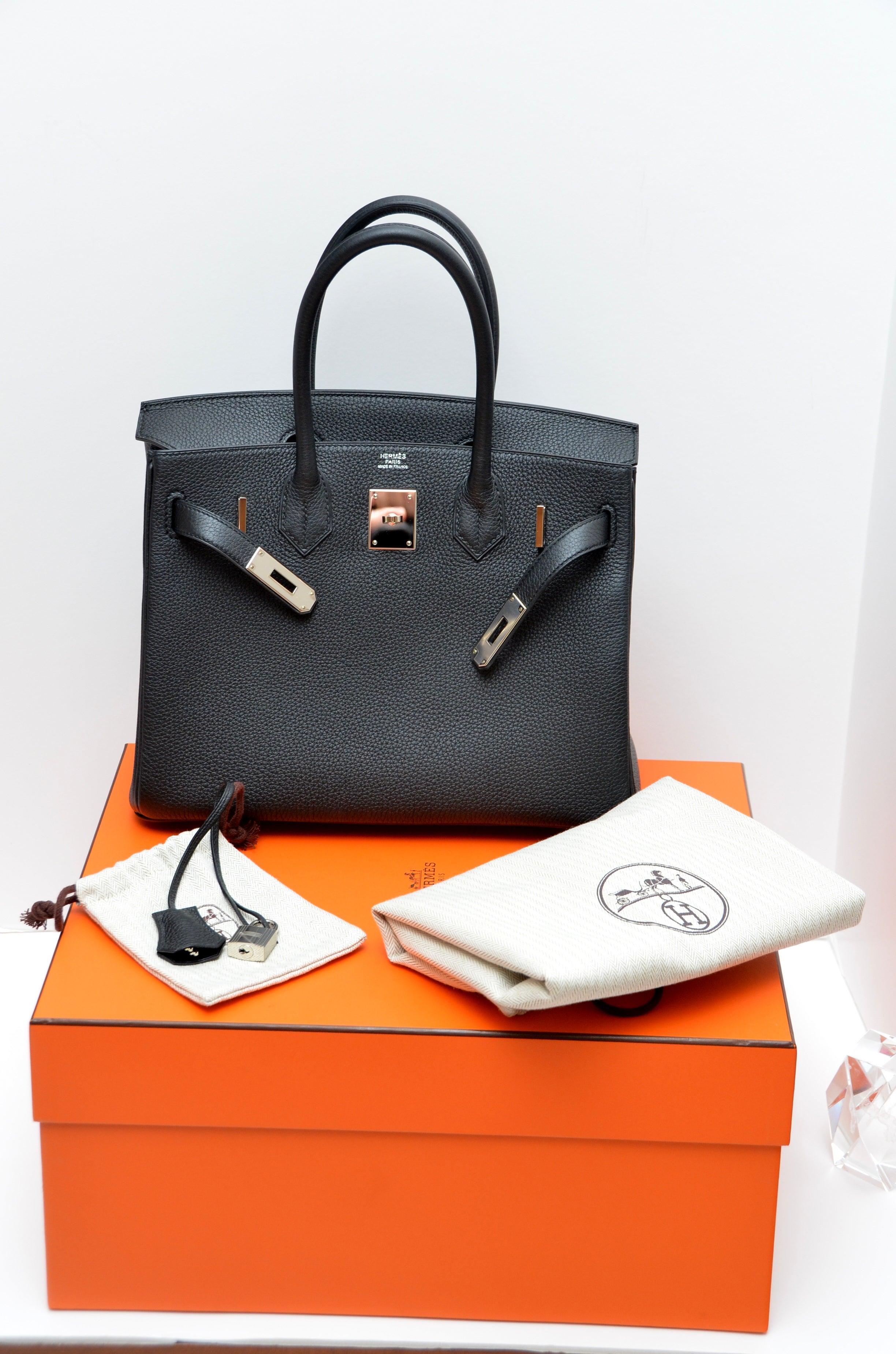 9e1a171f2eba Hermes Birkin 30cm Black Togo Palladium Hardware Handbag Mint For Sale at  1stdibs