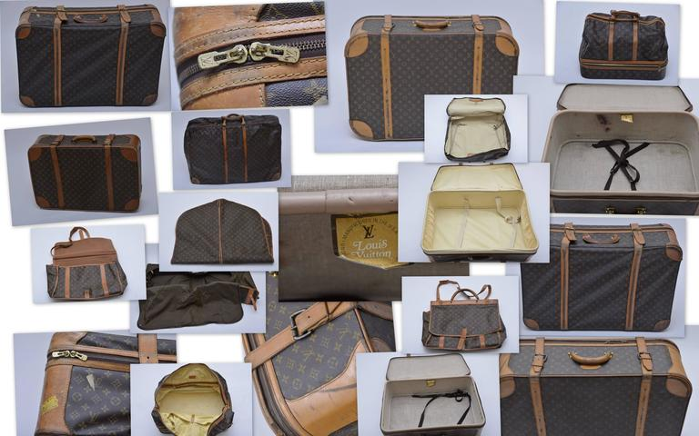 Louis Vuitton 8 Piece Traveling  Luggage 1970's - 1990's  10