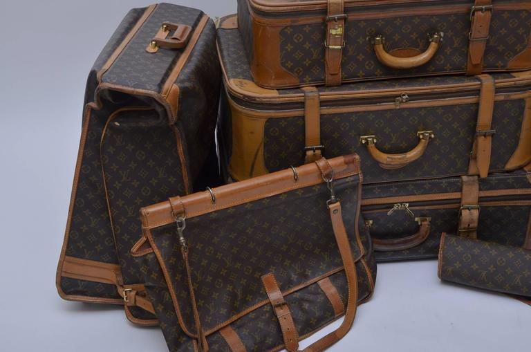 Louis Vuitton 8 Piece Traveling  Luggage 1970's - 1990's  2