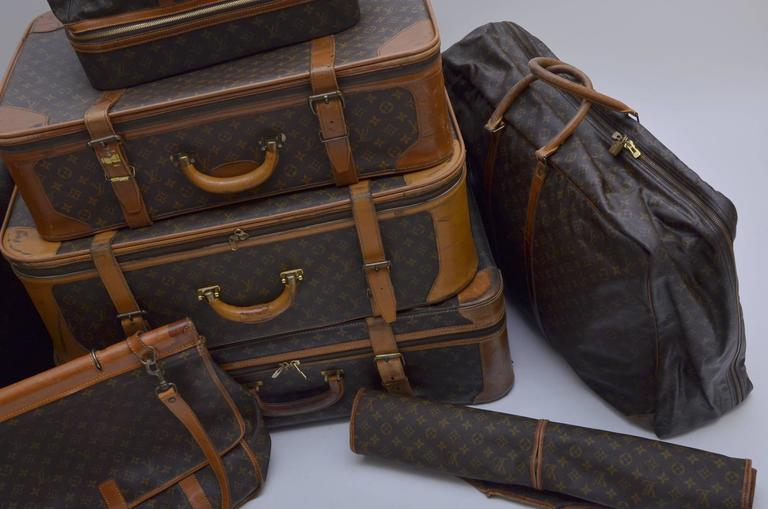 Louis Vuitton 8 Piece Traveling  Luggage 1970's - 1990's  3