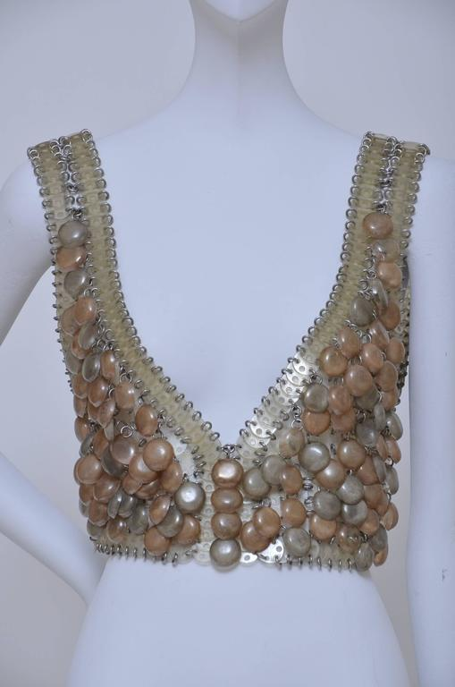 "PACO  RABANNE   Early 1960's  ""BRA TOP "" Bodice Piece  5"